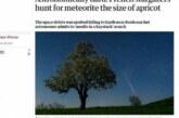 Во Франции начаты поиски метеорита, упавшего неделю назад
